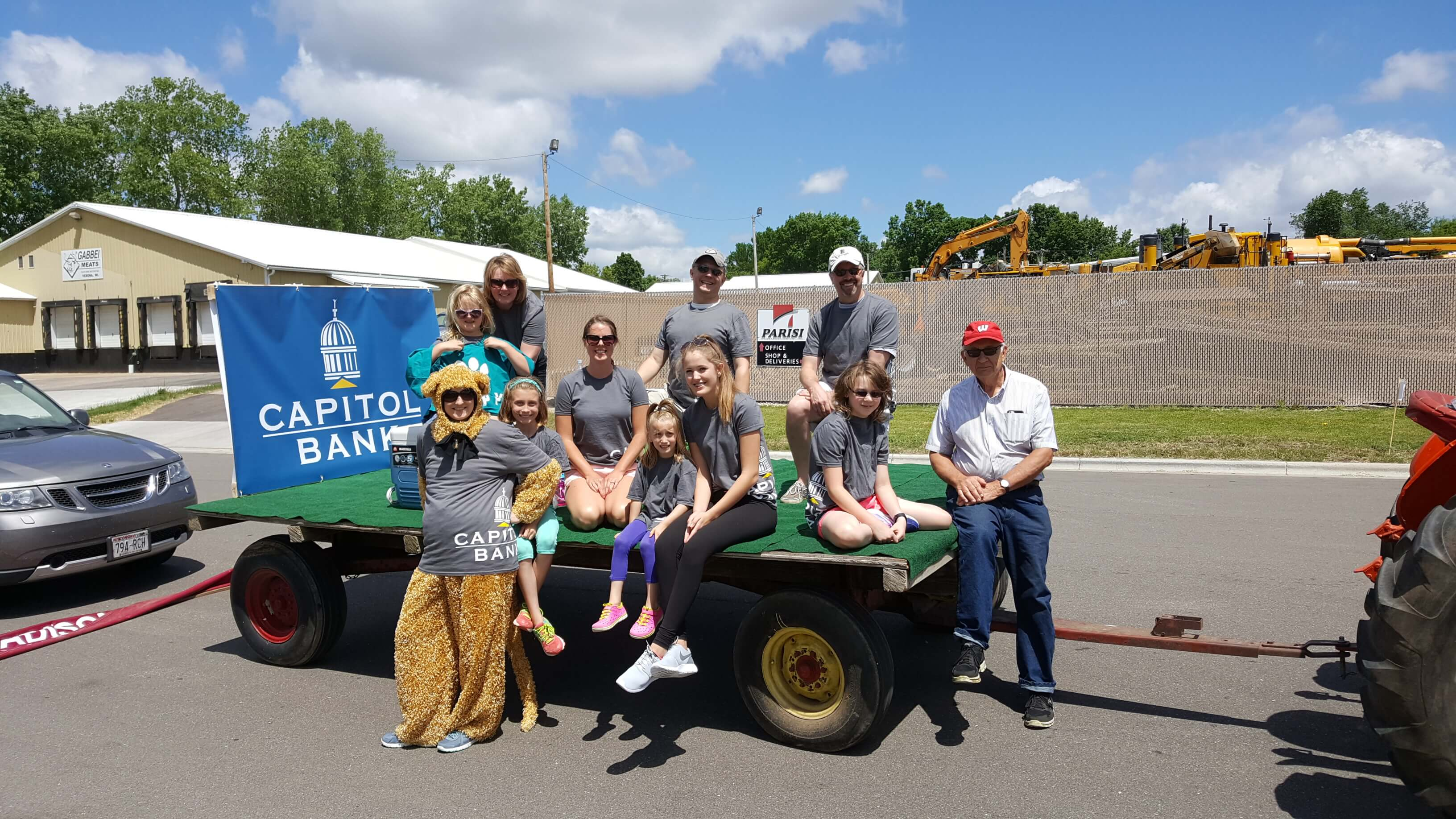 Capitol Bank Employees at Verona Hometown Days Parade Float 2017