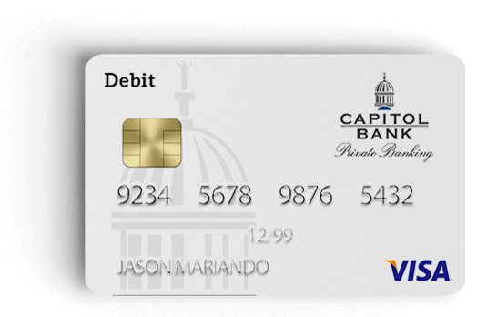 Private Banking Debit Card from Capitol Bank in Madison-Verona, WI