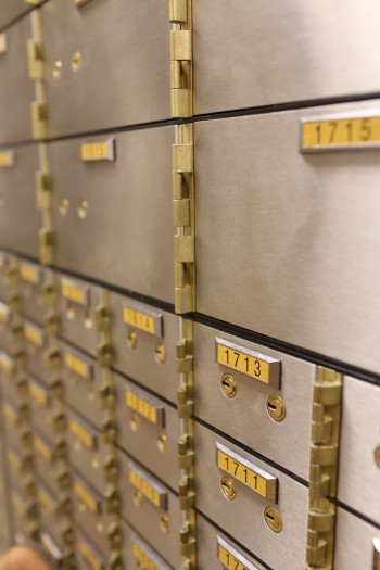 Safe deposit boxes offered by Capitol Bank in Madison and Verona, WI