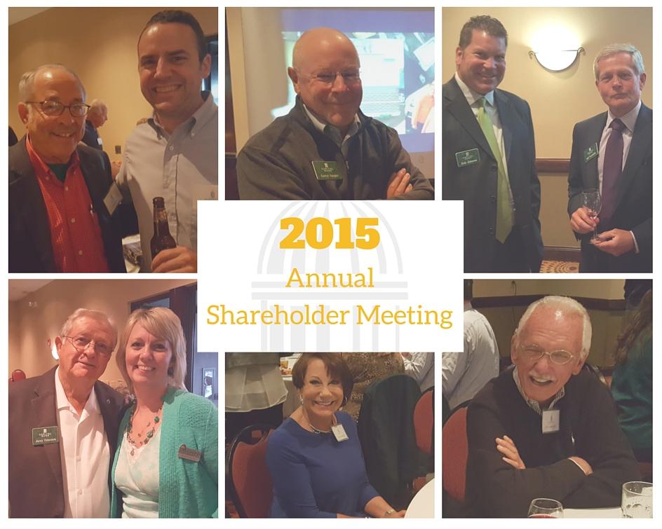 2015 Capitol Bankshares 2015 Annual Shareholder Meeting