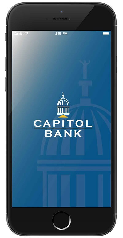 Capitol Bank Personal Mobile Banking App Screen splash page