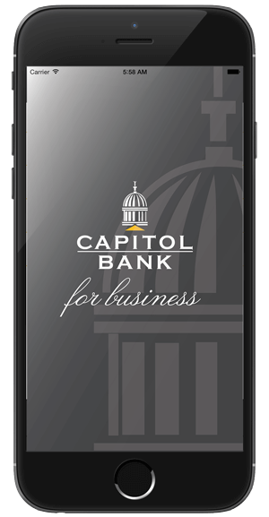 Capitol Bank Business Mobile App splash page