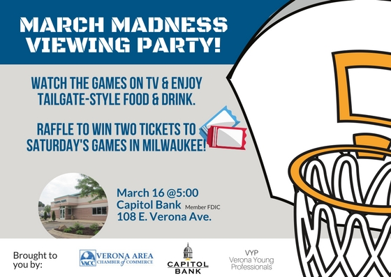 March Madness Viewing Party Invitation - March 2017