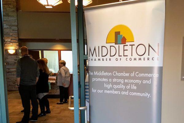 Middleton Chamber of Commerce Business Social Sign
