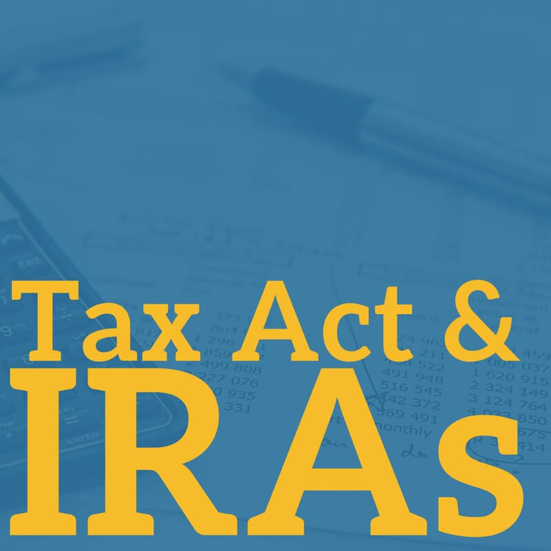 Tax Act & IRAs